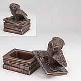 Шкатулка Veronese Сова на книгах 12 см 75511 веронезе статуэтка-шкатулка с книгами, фото 2