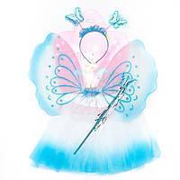 Карнавальный набор - юбочка, крылья, тиара, волшебная палочка (513573-2)