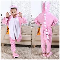 Кигуруми пижама Дракон розовый детский микрофибра
