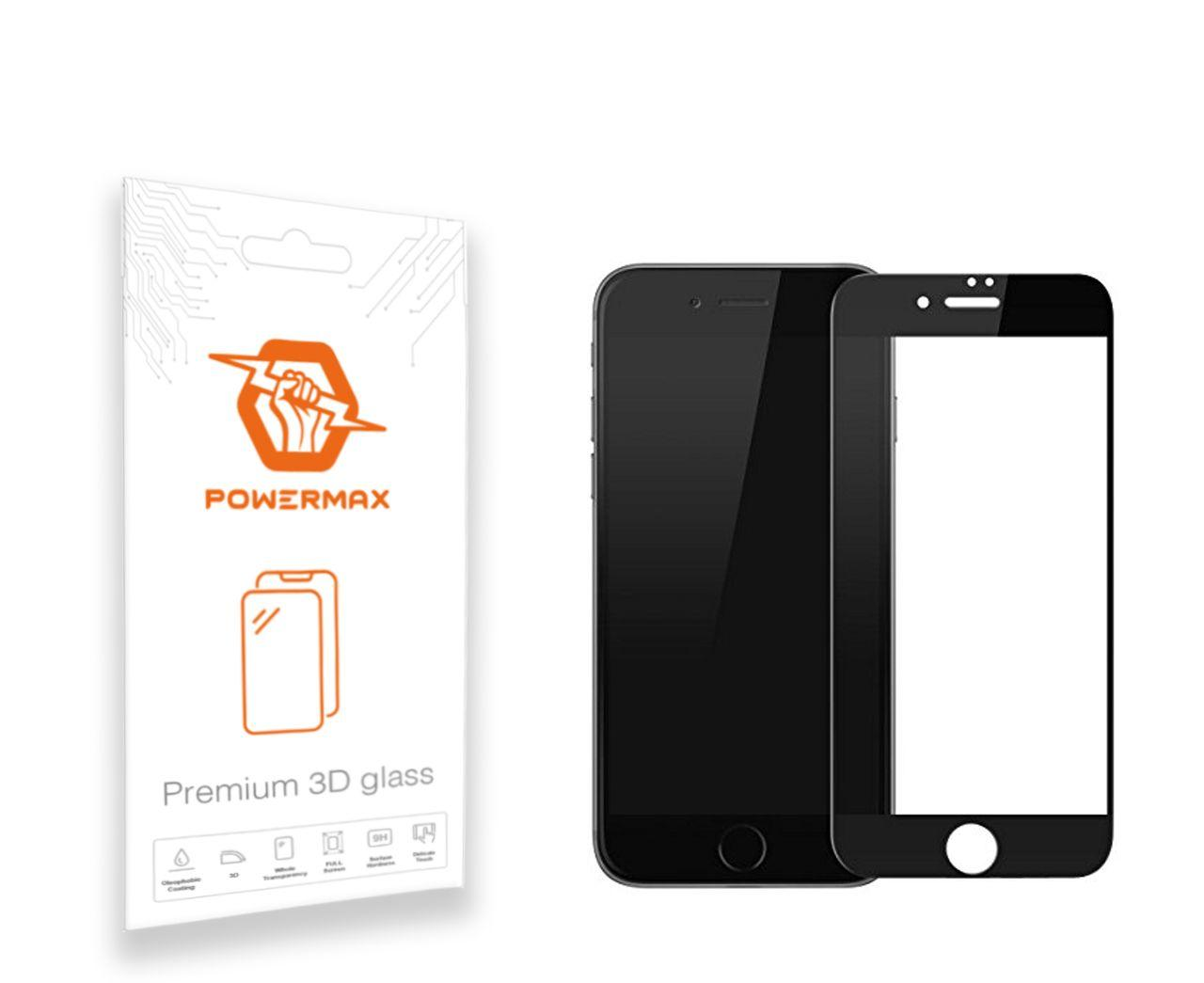 Захисне скло Powermax 3D Premium Apple iPhone 7 Plus, iPhone 8 Plus Black (PWRMX3DIPH7PB)