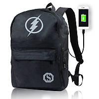 Школьный рюкзак для мальчиков и девочек, светящаяся анимация, USB зарядка, фото 1
