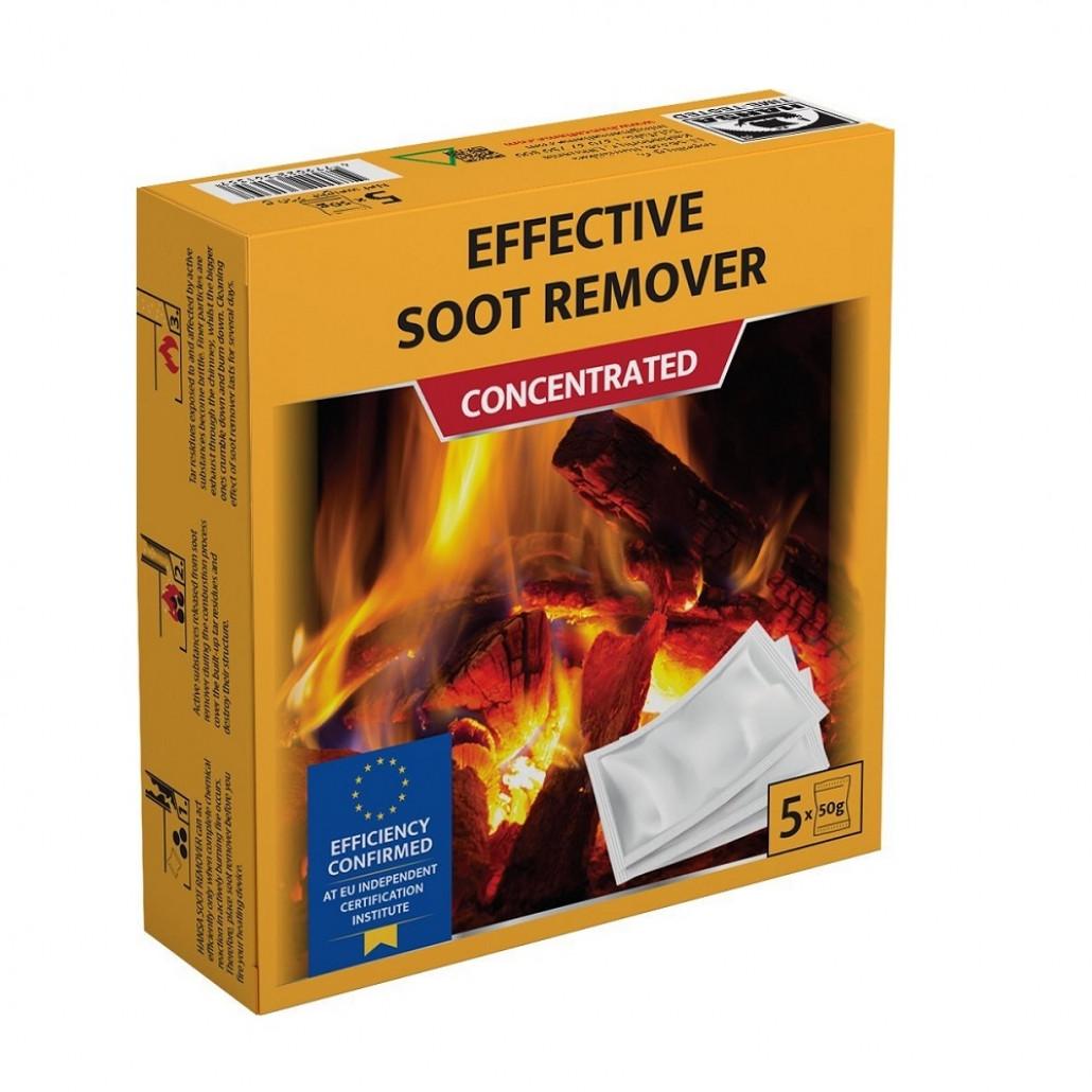 Очищувач димоходу (розчин для видалення сажі) Hansa (250 гр.) (5х50 гр)