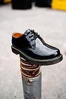 """Туфли женские Dr. Martens Classic """"Blak"""" лакированные лак кожаные"""