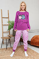 Теплая женская пижама с начесом, фото 1