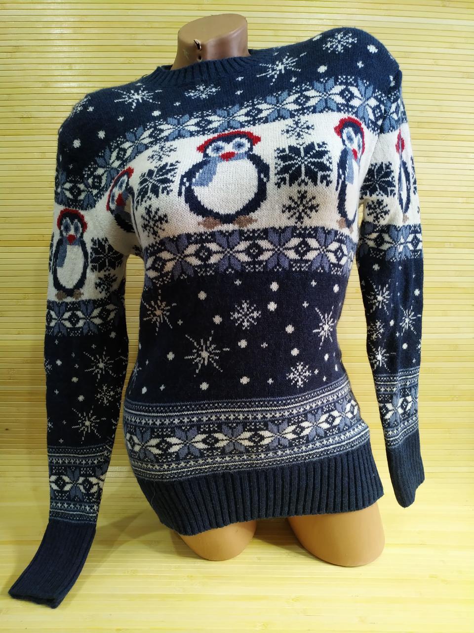 Новогодний свитер с пингвином Турция