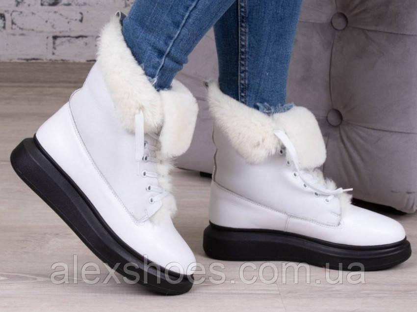 Ботинки молодежные зима на толстой подошве из натуральной кожи от производителя модель БС6020-3