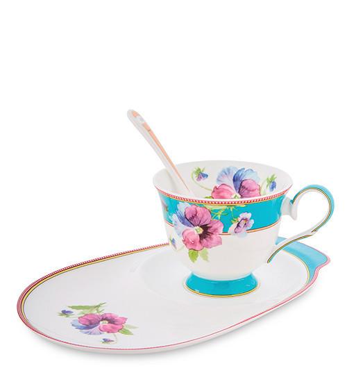 Чайный набор Pavone Фиалки 3 предмета 1451496 набор для чая сервиз