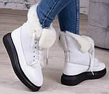 Ботинки молодежные зима на толстой подошве из натуральной кожи от производителя модель БС6020-3, фото 3