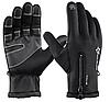 Лыжные перчатки сенсорные ROCKBROS, зимние , ветрозащитные , неопрен