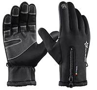 Лыжные перчатки сенсорные ROCKBROS, зимние , ветрозащитные , неопрен, фото 1