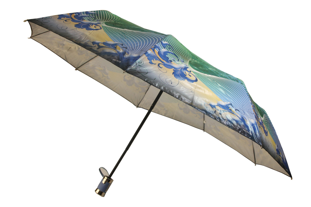 Зонт женский  полуавтомат, 9 карбоновых спиц (16662)