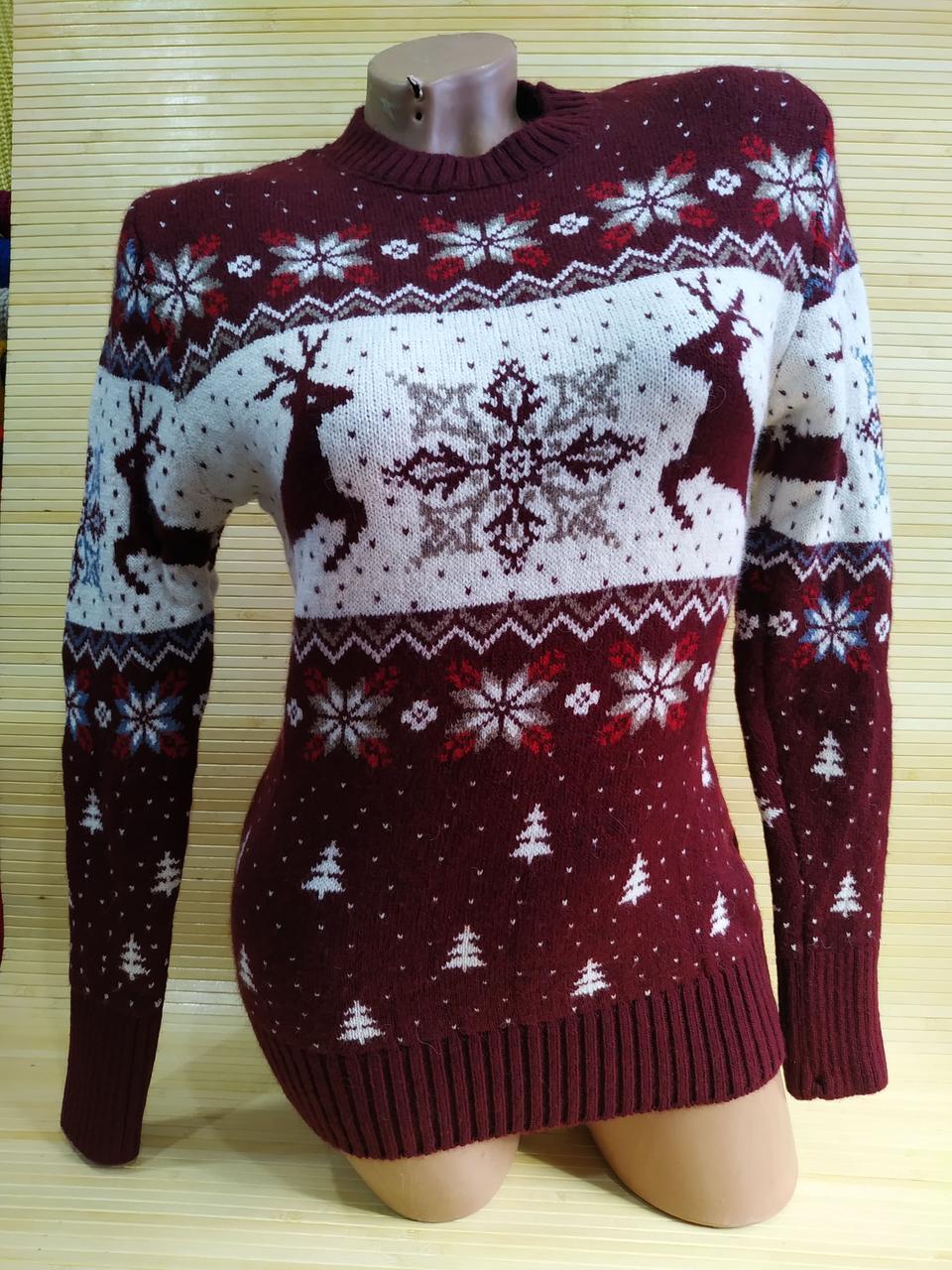 Модный Новогодний свитер Турция