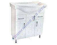Тумба для ванной комнаты с выдвижными ящиками Кватро Т16 с Умывальником Изео-75