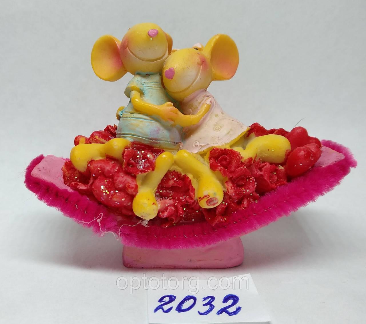 Сувенир статуэтка керамическая Крыса символ 2020 года 8*7 см