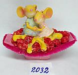 Сувенир статуэтка керамическая Крыса символ 2020 года 8*7 см, фото 3