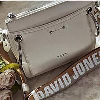 Стильная сумочка клатч  женская David Jones CM 5104 серого цвета