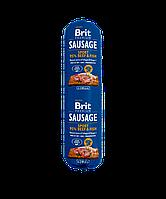 Колбаса Brit Premium Sausage Beef & Fish 12/16 (с говядиной и рыбой для взрослых активных собак), 800 гр