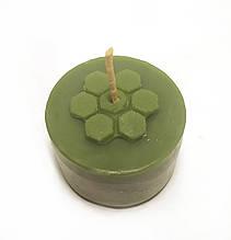Зелені чайні свічки з бджолиного воску Tea Lights Candles без гільзи