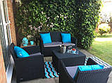Набор садовой мебели Corona Set With Cushion Box Graphite ( графит ) из искусственного ротанга, фото 9