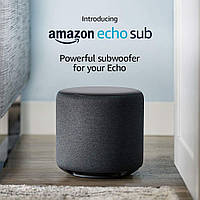 Amazon Echo Sub black Wi-Fi беспроводная колонка - Саб совместим с умными колонками Echo 2 и Echo Plus 2