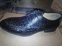 Туфли мужские кожаные черные, 45 размер, фото 1