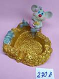 Статуэтка -Пепельница керамическая с символом 2020 года Крысы 7*7,5 см, фото 2