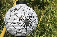 """Светящийся подвесной  шар на хеллоуин """"Паук"""", 20 см"""