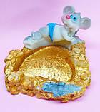 Статуэтка-Пепельница керамическая с символом 2020 года Крысы 7,5*7 см, фото 3