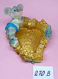 Статуэтка-Пепельница керамическая с символом 2020 года Крысы 7,5*7 см, фото 2