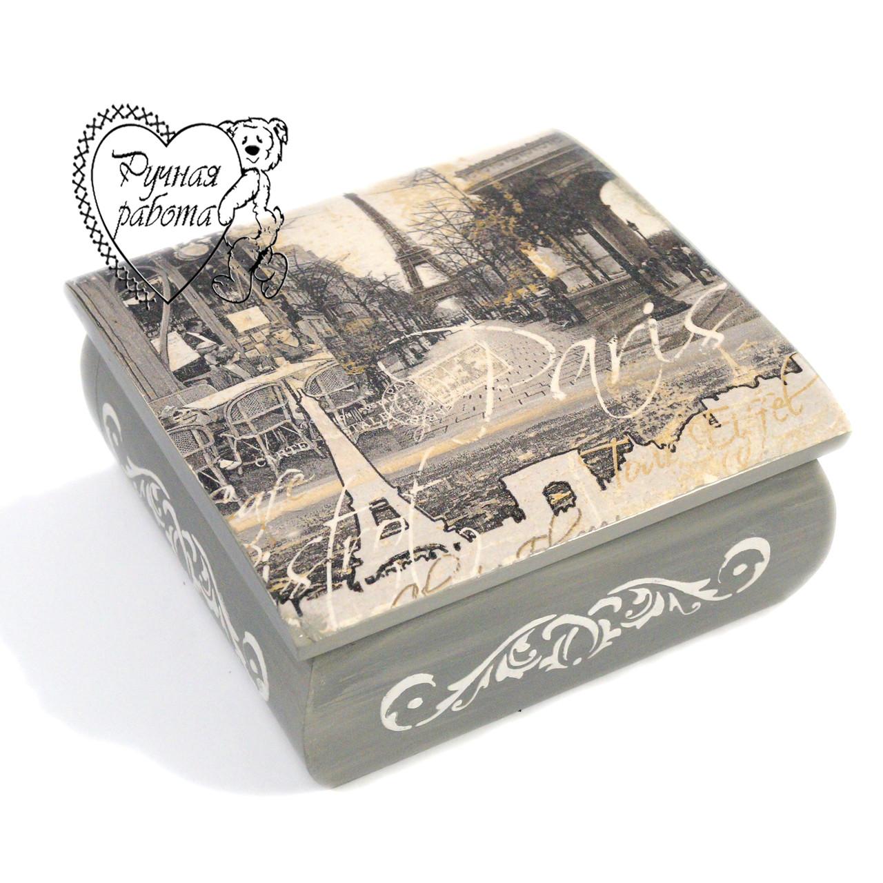 Шкатулка с Париж романтический 15* 15* 6,5 см