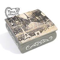 Шкатулка с Париж романтический 15* 15* 6,5 см, фото 1