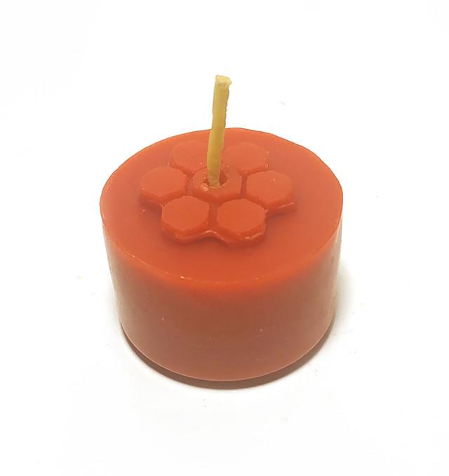 Красные чайные свечи из пчелиного воска Tea Lights Candles без гильзы