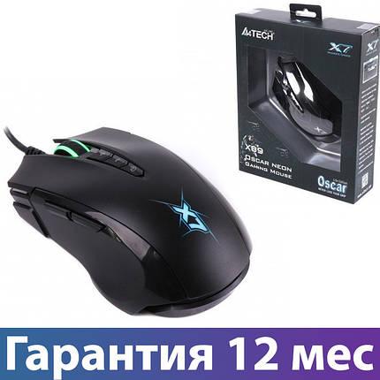 Игровая мышь A4 Tech X89 X7 Oscar Neon Black, USB,, проводная, фото 2