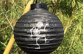 "Светящийся подвесной  шар на хеллоуин ""Скелет"", 20 см"