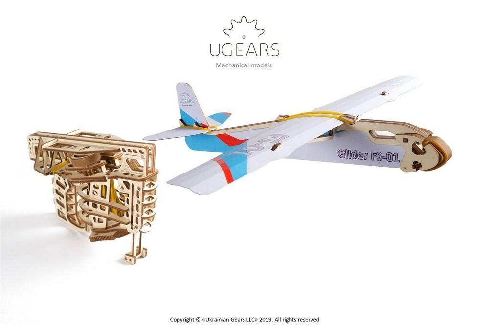 Пускатель самолетиков | UGEARS | Механический 3D конструктор из дерева