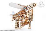 Пускатель самолетиков | UGEARS | Механический 3D конструктор из дерева, фото 5