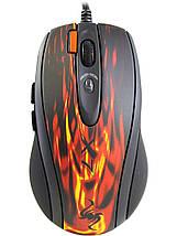 Ігрова миша A4Tech X7 XL-750BK Red USB чорна, дротова, геймерська мишка а4 х7, фото 3