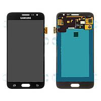 Дисплейный модуль (дисплей и сенсор) для Samsung J320 Galaxy J3 (2016), черный, (OLED)