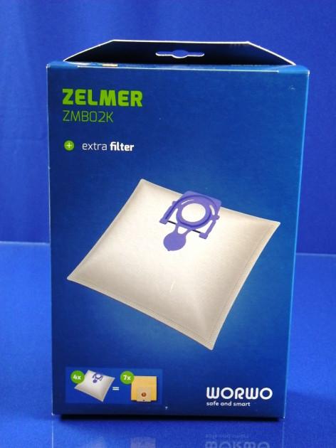 Набор мішків Zelmer ZMB02K в коробці (синий) (4 шт+1фильтр)