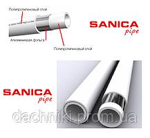 Труба полипропиленовая SANICA  PP-R COMBI PIPE PN25 D20 с внутренним слоем алюминия Турция