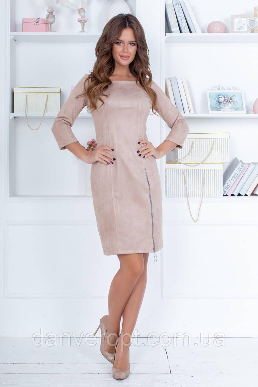 Платье женское модное стильное с молнией размер 42-48 купить оптом со склада 7км Одесса