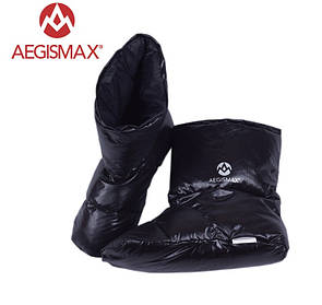 Пуховые носки (зимние), обувь из пуха Aegismax Размер XL 26-29см черные.