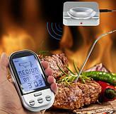 Беспроводной дистанционный цифровой термометр для мяса с температурным зондом.