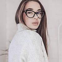 Ноовые женские компьютерные очки для компьютера лисички кошачий глаз комп'ютерні окуляри имиджевые прозрачные