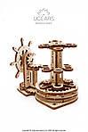 Штурвал-органайзер   UGEARS   Механический 3D конструктор из дерева, фото 6