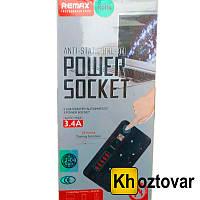 Универсальный сетевой фильтр Remax Power Socket Anti Static BCL 04 | 3 розетки питания и 5 USB порта