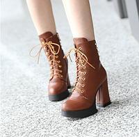 Женские осенние ботинки с шипами ЖО 0373-И