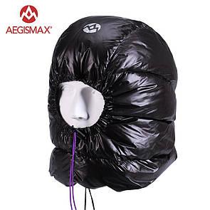 Капюшон пуховый Aegismax, зимний головной убор из пуха черный.