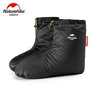 Пуховые носки (зимние), обувь из пуха Naturehike Размер М 29см. черный