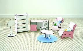 Набор мебели для кукольного домика 3115 Кабинет. 7 предметов